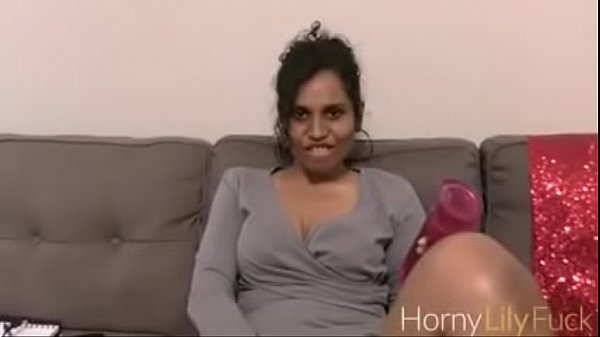 Indian Porn Star Horny Lily and her favorite toy Masturbating With Dirty Sex Chat In Tamil Thumb