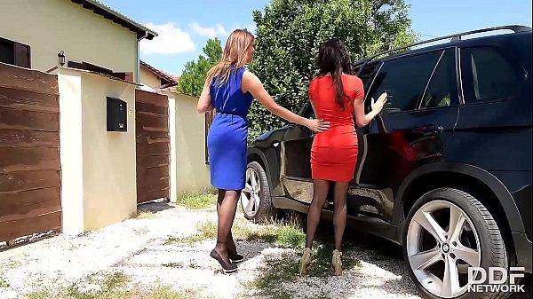 Luxury Foot Fetish sluts Anissa Kate & Ani Blackfox Fuck Outdoors