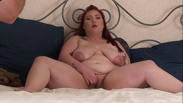 Redhead BBW Jasmine Leigh masturbates with her dildo Thumb