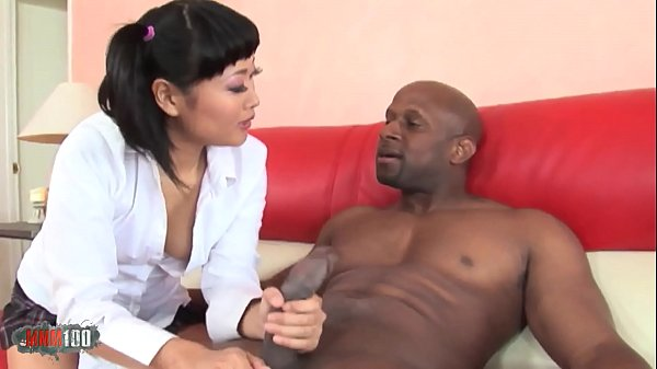 Asian chick shagged by a black stallion