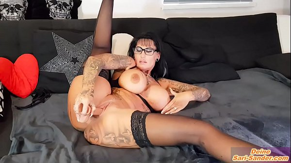 german escort hooker with big tits and tattoos make solo strip dildoshow at webcam