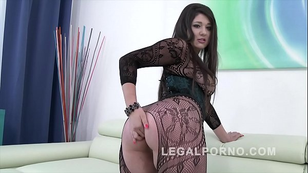 Big butt slut Katlein Ria douple penetrated & f...