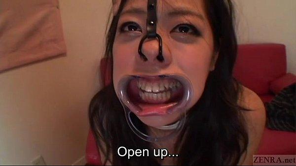 Subtitled bizarre Japanese facial destruction b...