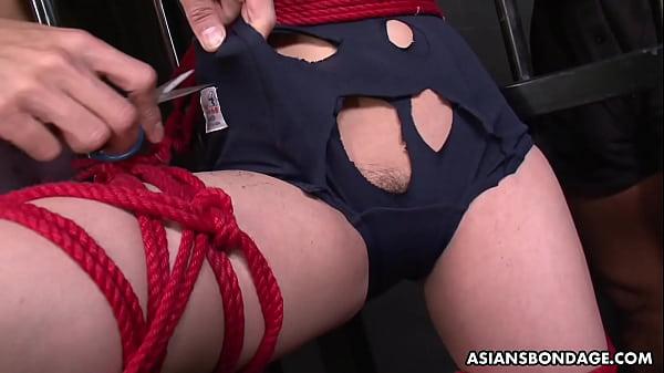 Sub slut Sayaka gets toyed by vegetables and su...