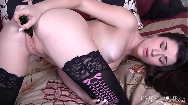 Young Stocking Clad Brunette Lacy Channing Finger Fucks To Wet Orgasm