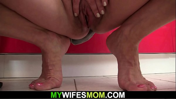 Old blonde seduces him into cheating taboo sex