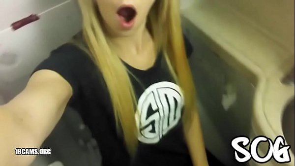 Blonde Public Masturbating Airplane Bathroom Re...