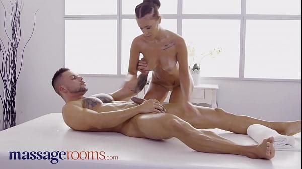 Massage Rooms Pretty Spanish brunette Mina Moreno intimate foreplay and passionate sex