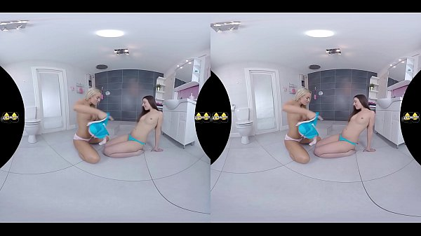 Virtualpee - VR Piss drinking and dildo play on the bathroom floor Thumb