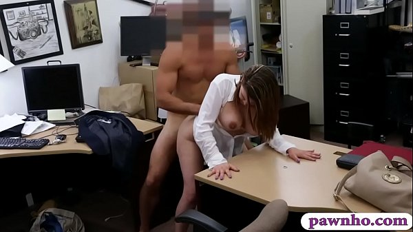 Huge boobs woman nailed by pawn keeper