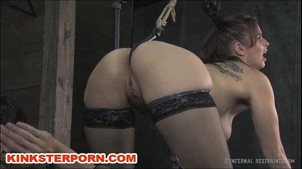 Lesbian Slave Bella Anal Hooked In