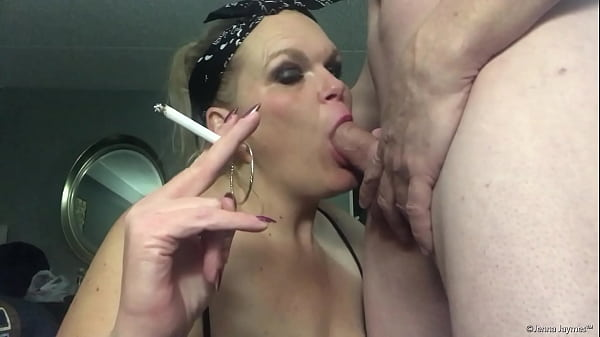 Jenna Jaymes Applies Lipstick, Smokes, Deepthroats And Facial 1080p