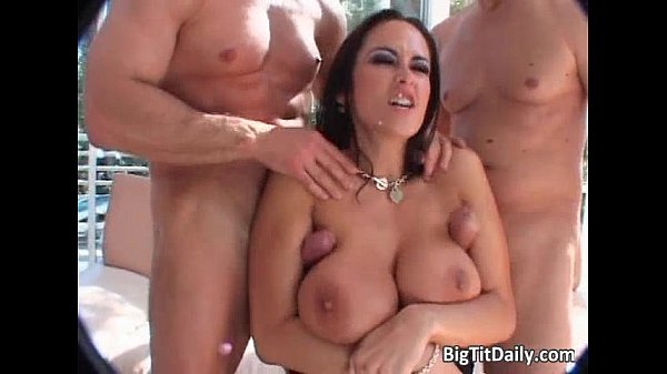 Bitch with big tits gets pussy and ass