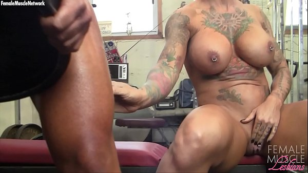 Two Big Tit Muscle Girls Play With Each Other I...