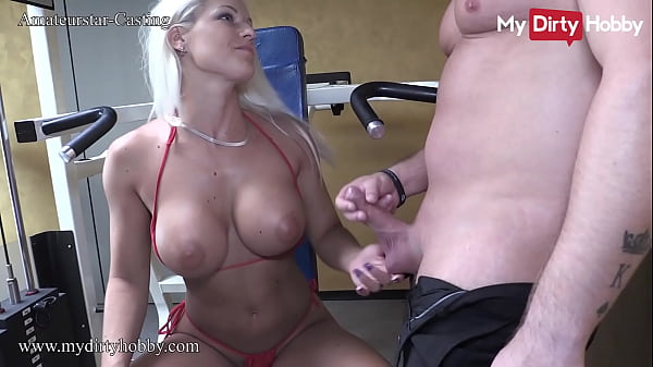 MyDirtyHobby - Busty fit babe fucks and swallows at the gym