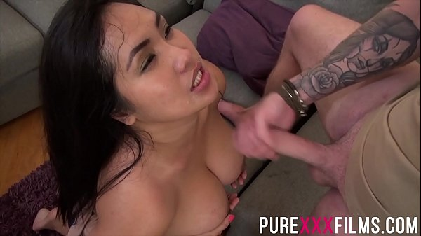 Chubby stepsis gets her titties covered with cum