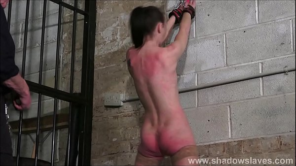 Merciless whipping of struggling amateur slave in rough spanking and b. tits of submissive Thumb
