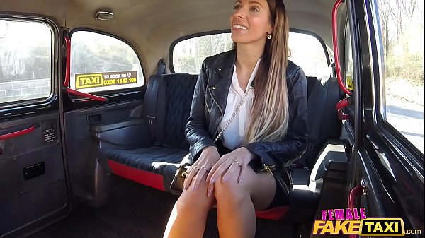 Female Fake Taxi Cherry Kiss lesbian sex with l...