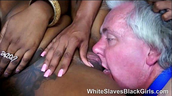 old perv with 2 black mistresses