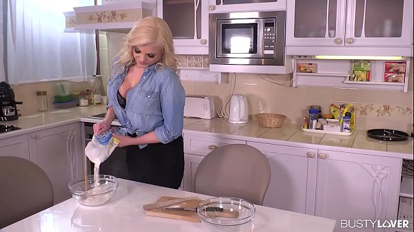 Busty Katy Jayne Destroys a Throbbing Cock in the Kitchen