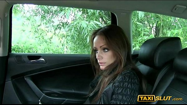 Tight amateur brunette Sophie fucked in public with the driver
