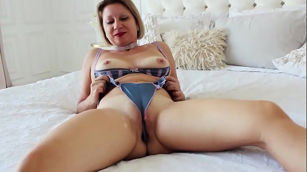 Barbaradream in satin underwear have buttplug i...