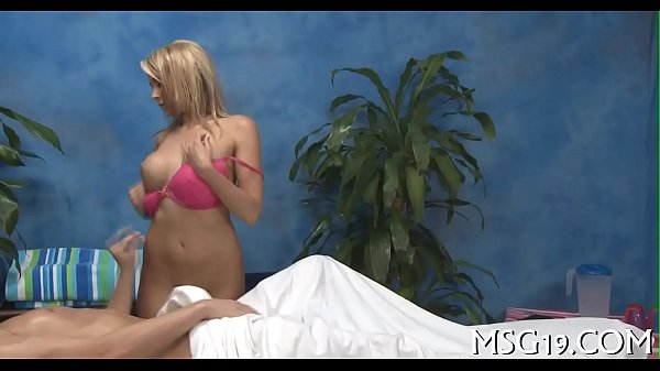 Girl with nice gazoo gives massage Thumb