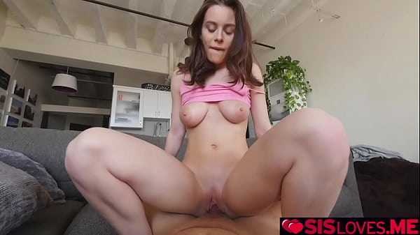 Lana Rhoades showing her big tits to her pervy stepbrother