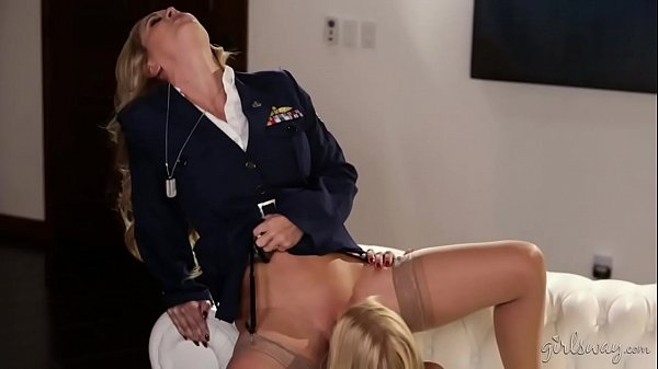 Blonde lesbian soldiers - Girlsway - Cherie DeVille, Alexis Fawx