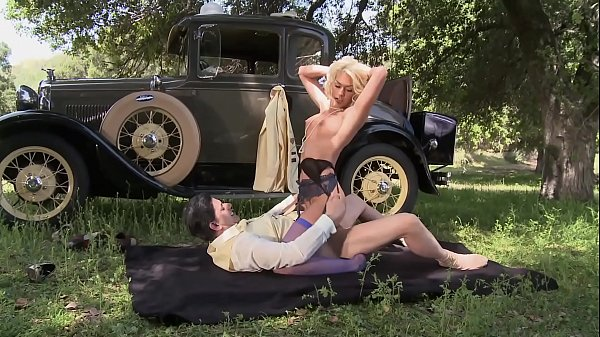 Big tits blonde MILF helps the lost guy in the public in old wild west Thumb