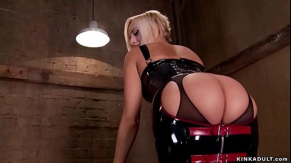 Blonde lesbians anal toyed by lezdom