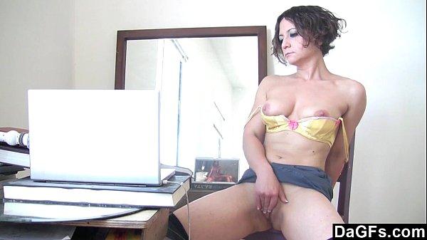 Dagfs - Sloppy Milf Masturbates While She Watches A Porn Movie