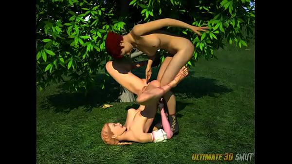 Alice in WonderFuckLand. 3D xxx cartoon fantasy foursome.