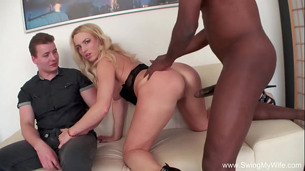 Interracial BBC Swing With Blonde Wifey Sex Session