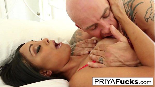 Indian MILF Priya Rai and Derrick Pierce have energetic reunion fuck session
