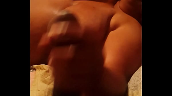 Phone call hand job on super thick dick