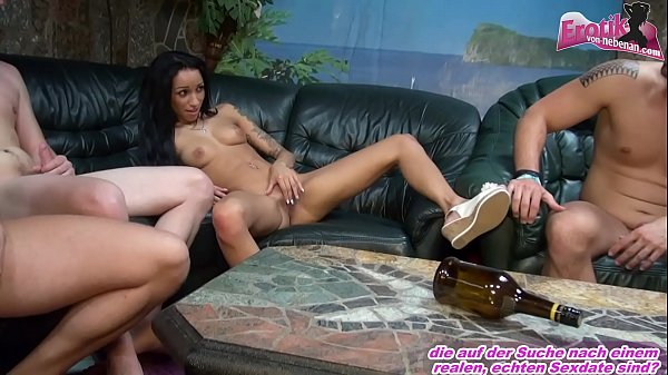 german 18yo teen make her first time gangbang with spin the bottle