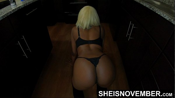 Crawl Bitch!!! Petite Black Pornographic Actress Msnovember Ordered By Her Insane Step Dad To Get On Her Knees And Crawling While Jiggling Juicy Ebony Step Daughter Ass Cheeks In The Kitchen Wearing Black Thong and Stocking xxx Sheisnovember