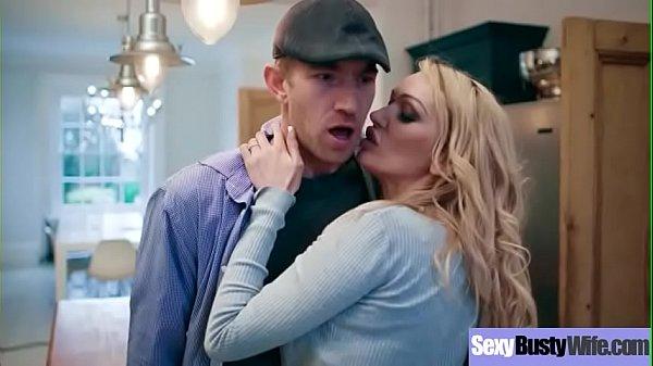 (Amber Jayne) Hot Big Round Boobs Wife Love Intercorse clip-03