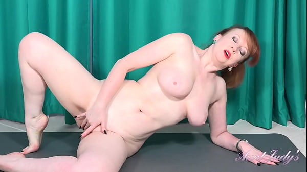 AuntJudys - Busty 56yr-old Step-Auntie Red's Big Tit Workout Thumb