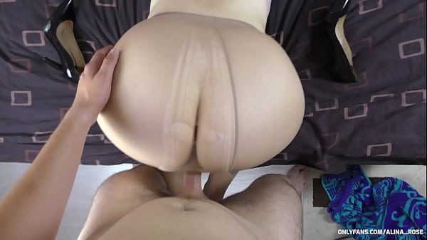 Teen with a big ass and pantyhose fucked