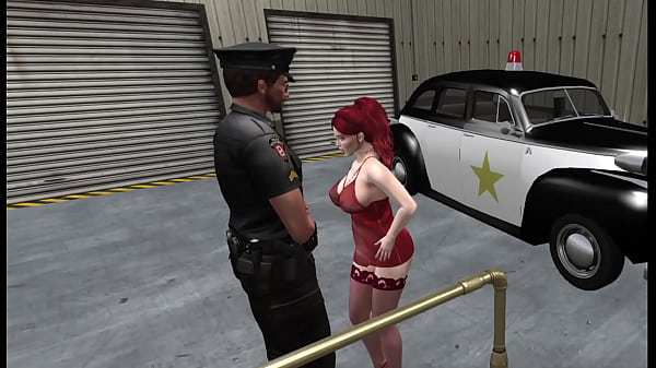 A Redhead meets the Police Thumb