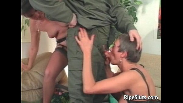 Two horny mature sluts getting fucked