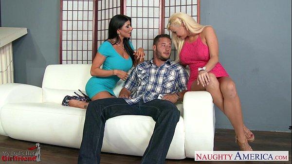 Hot lesbians Romi Rain and Summer Brielle shari...