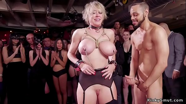 Huge tits Milf throat banged in party