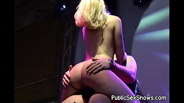 Lovely stripper makes a guy's cock hard