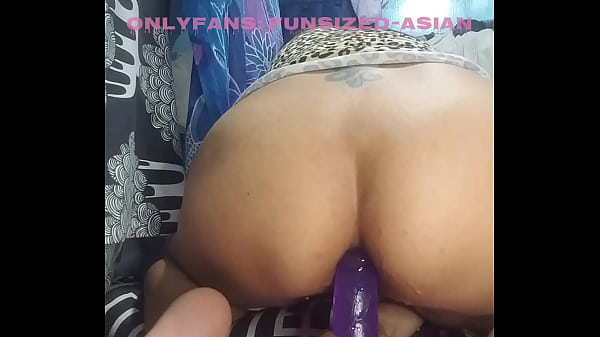 Squirting Asian Slut Stretches Tight Asshole with Dildo