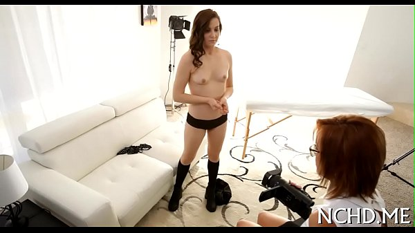 Girl undresses for a casting session Thumb
