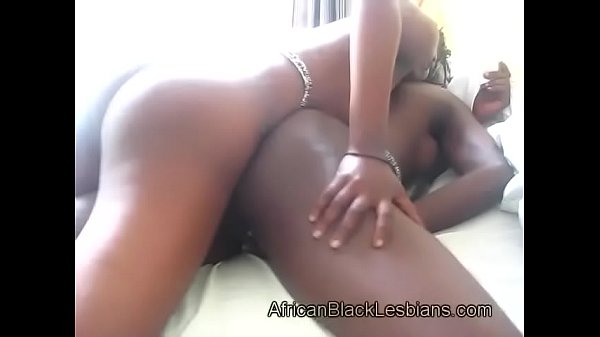 Big booty black lezzie pleased by hoce-strapon...