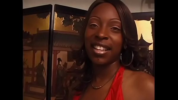 Ebony floozie Skyy with a gorgeous smile loves getting banged by a black man